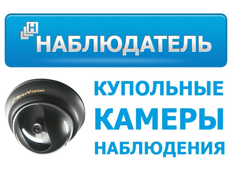 Купольные камеры видеонаблюдения - магазин Наблюдатель