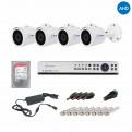 Комплекты Комплект видеонаблюдения для улицы Наблюдатель, Комплект камер видеонаблюдения для улицы на 4 камеры AHD