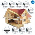 Комплекты Комплект видеонаблюдения для дачи Наблюдатель, Комплект камер видеонаблюдения для дачи на 8 камер AHD