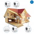 Комплекты Комплект видеонаблюдения для дачи Наблюдатель, Комплект камер видеонаблюдения для дачи на 4 камеры IP