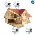 Комплекты Комплект видеонаблюдения для дачи Наблюдатель, Беспроводонй комплект видеонаблюдения для дачи на 4 камеры Wi-Fi