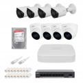 Комплекты Комплект видеонаблюдения IP Dahua, Комплект камер видеонаблюдения IP на 8 камер