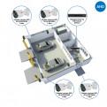 Комплекты Комплект видеонаблюдения AHD Наблюдатель, Комплект видеонаблюдения AHD для автомойки на 4 камеры