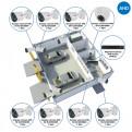 Комплекты Комплект видеонаблюдения AHD Наблюдатель, Комплект видеонаблюдения AHD для автомойки на 8 камер
