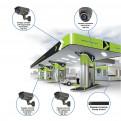 Комплекты Комплект видеонаблюдения Наблюдатель, Комплект камер видеонаблюдения для АЗС на 4 камеры