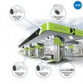 Комплекты Комплект видеонаблюдения AHD Наблюдатель, Комплект видеонаблюдения AHD для АЗС на 4 камеры