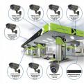 Комплекты Комплект видеонаблюдения Наблюдатель, Комплект камер видеонаблюдения для АЗС на 8 камер