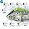 Комплекты Комплект видеонаблюдения AHD Наблюдатель, Комплект камер видеонаблюдения для АЗС на 8 камер AHD