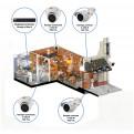 Комплекты Комплект видеонаблюдения Наблюдатель, Комплект камер видеонаблюдения для кафе на 4 камеры
