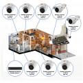 Комплекты Комплект видеонаблюдения Наблюдатель, Комплект камер видеонаблюдения для кафе на 8 камер
