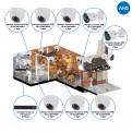 Комплекты Комплект видеонаблюдения AHD Наблюдатель, Комплект камер видеонаблюдения для кафе на 8 камер AHD