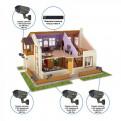 Комплекты Комплект видеонаблюдения Наблюдатель, Комплект камер видеонаблюдения для дома на 4 камеры