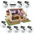 Комплекты Комплект видеонаблюдения Наблюдатель, Комплект камер видеонаблюдения для дома на 8 камер