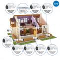 Комплекты Комплект видеонаблюдения AHD Наблюдатель, Комплект камер видеонаблюдения для дома на 8 камер AHD