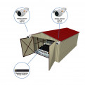 Комплекты Комплект видеонаблюдения Наблюдатель, Комплект камер видеонаблюдения для гаража на 2 камеры