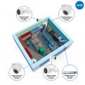 Комплекты Комплект видеонаблюдения AHD Наблюдатель, Комплект камер видеонаблюдения для магазина на 4 камеры AHD