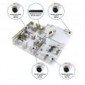 Комплекты Комплект видеонаблюдения Наблюдатель, Комплект камер видеонаблюдения для офиса на 4 камеры