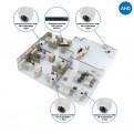 Комплекты Комплект видеонаблюдения AHD Наблюдатель, Комплект камер видеонаблюдения для офиса на 4 камеры AHD
