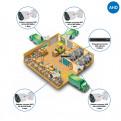 Комплекты Комплект видеонаблюдения AHD Наблюдатель, Комплект камер видеонаблюдения для склада на 4 камеры AHD
