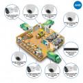 Комплекты Комплект видеонаблюдения AHD Наблюдатель, Комплект камер видеонаблюдения для склада на 8 камер AHD