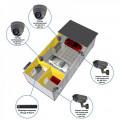Комплекты Комплект видеонаблюдения Наблюдатель, Комплект камер видеонаблюдения для СТО на 4 камеры
