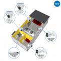 Комплекты Комплект видеонаблюдения AHD Наблюдатель, Комплект камер видеонаблюдения для СТО на 4 камеры AHD