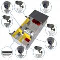 Комплекты Комплект видеонаблюдения Наблюдатель, Комплект камер видеонаблюдения для СТО на 8 камер
