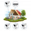 Комплекты Комплект видеонаблюдения Наблюдатель, Комплект камер видеонаблюдения для стройки на 4 камеры